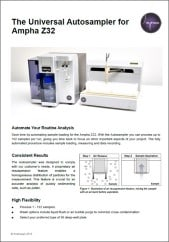 Amphasys_Autosampler for Ampha Z32 Impedance Flow Cytometer