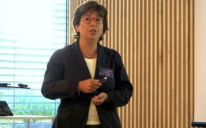 """Prof. Consolata Siniscalco during her keynote lecture on """" Reproductive Biology in Hazelnut"""""""