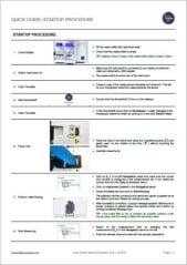Quick Guide Pollen Analyzer Startup Procedure