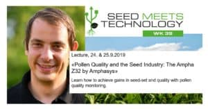 Pollen Quality and the seed industry. Lecture by Dr. Rutgher van Zwieten