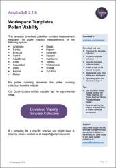 Workspace Templates for Pollen Viability Measurement