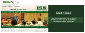 Seed Rescue Course