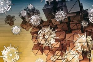 Art illustration of nanoparticles