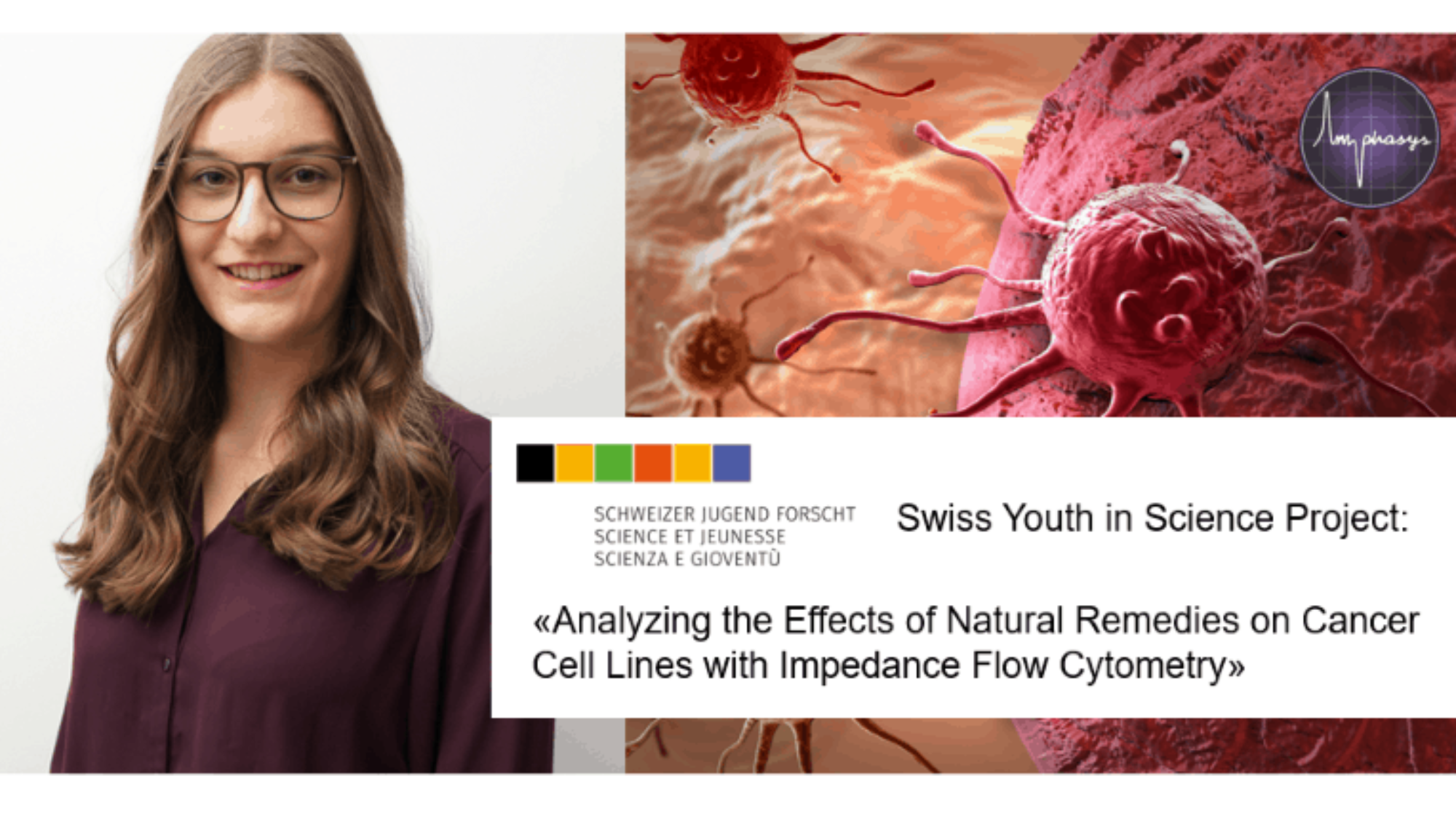 Picture collage honoring Andrea Hunn for her project in Swiss Youth in Science